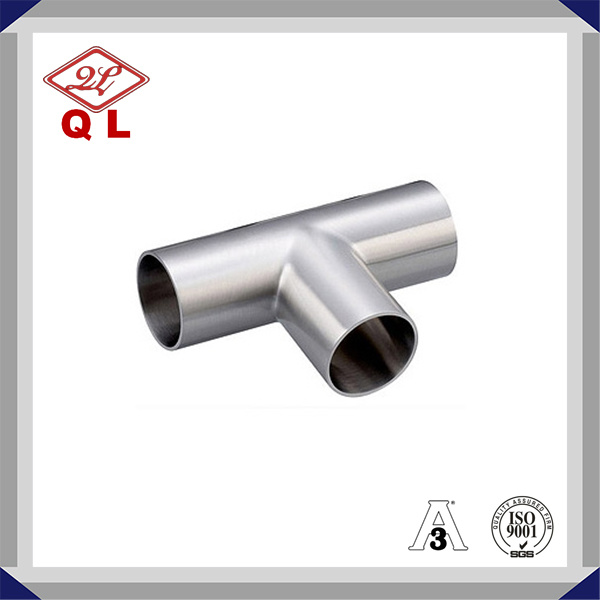 Food Grade 304/316L Sanitary Stainless Steel Welded Equal Tee