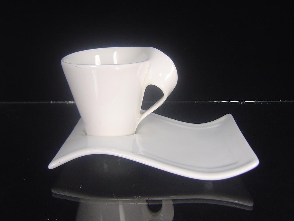Porcelain Irregular Shaped Coffee Cup