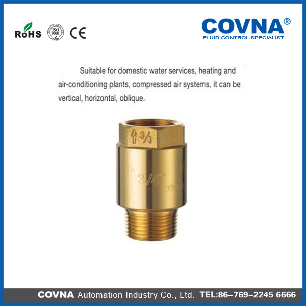 Female Connector Brass Spring Check Valve