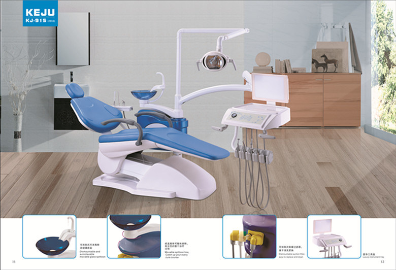 Foshan High Quality Integrated Dental Chair Unit Kj-915 with Ce Approval with 9 Memory