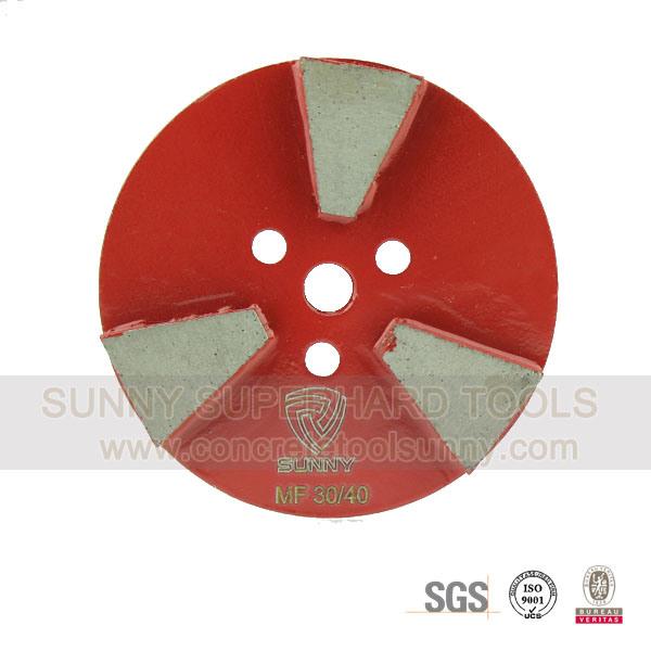Hook & Loop Diamond Floor Grinding Plate Wheel for Concrete Stone Terrazzo
