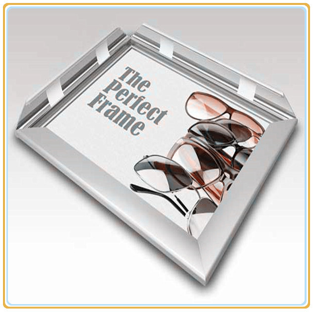 Economic Elegant Plastic A4customize Display Acrylic Aluminum Snap Frame