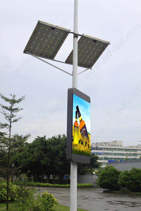 Full Color Outdoor LED Display HD P5 for Roadside Standing Poles