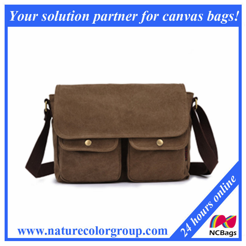 Fashion Canvas Shoulder Messenger Bag for Man