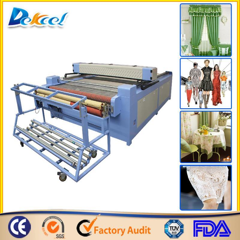High Efficiency Textile Laser Cutting Machine Auto Feeding CNC Laser Dek-1530