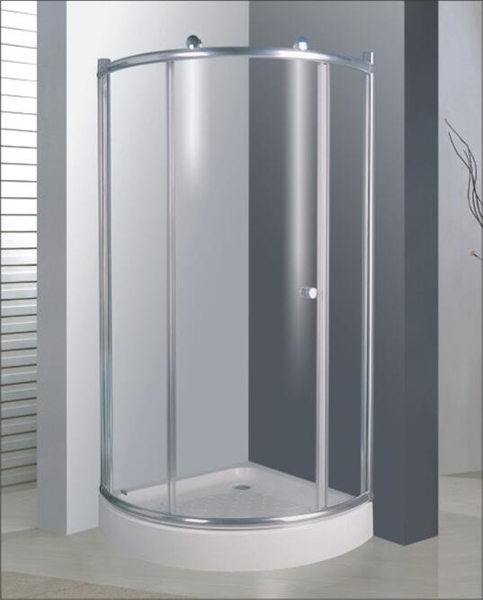 Bathroom 6mm Glass Big Roller One Door Quadrant Shower Enclosure (BR739)
