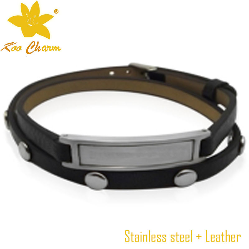 Stlb-006 2016 New Fashion Genuine Leather Bangles