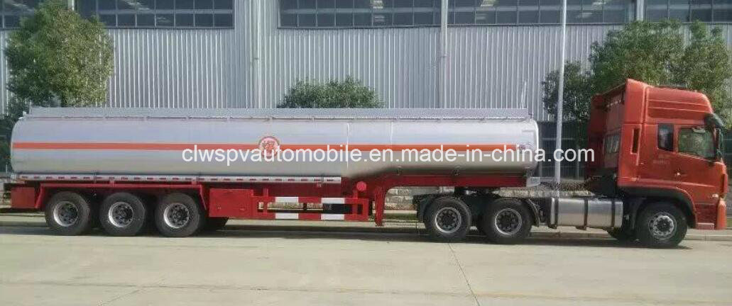 3 Axles Crude Oil Steel Semi Trailer 40000 L Fuel Tanker Peice