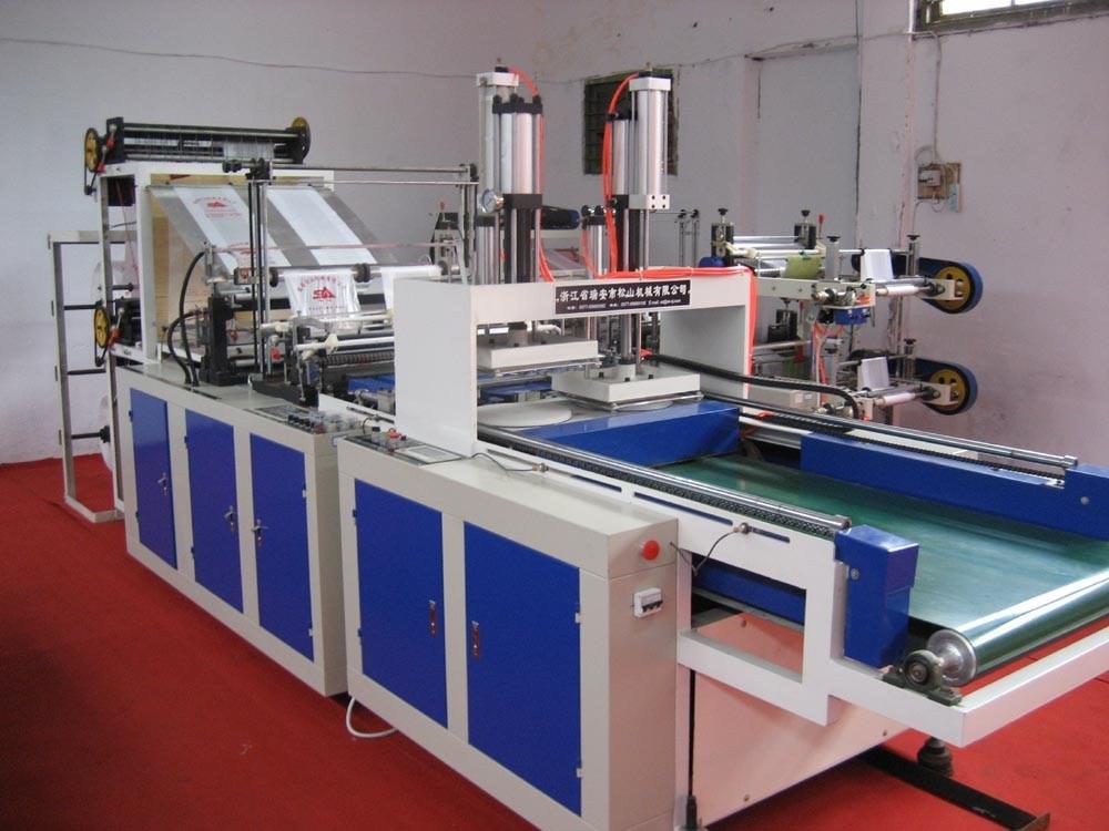 High Speed Four Line Cold Cutting T-Shirt Bag Maker (SSC-1000F)