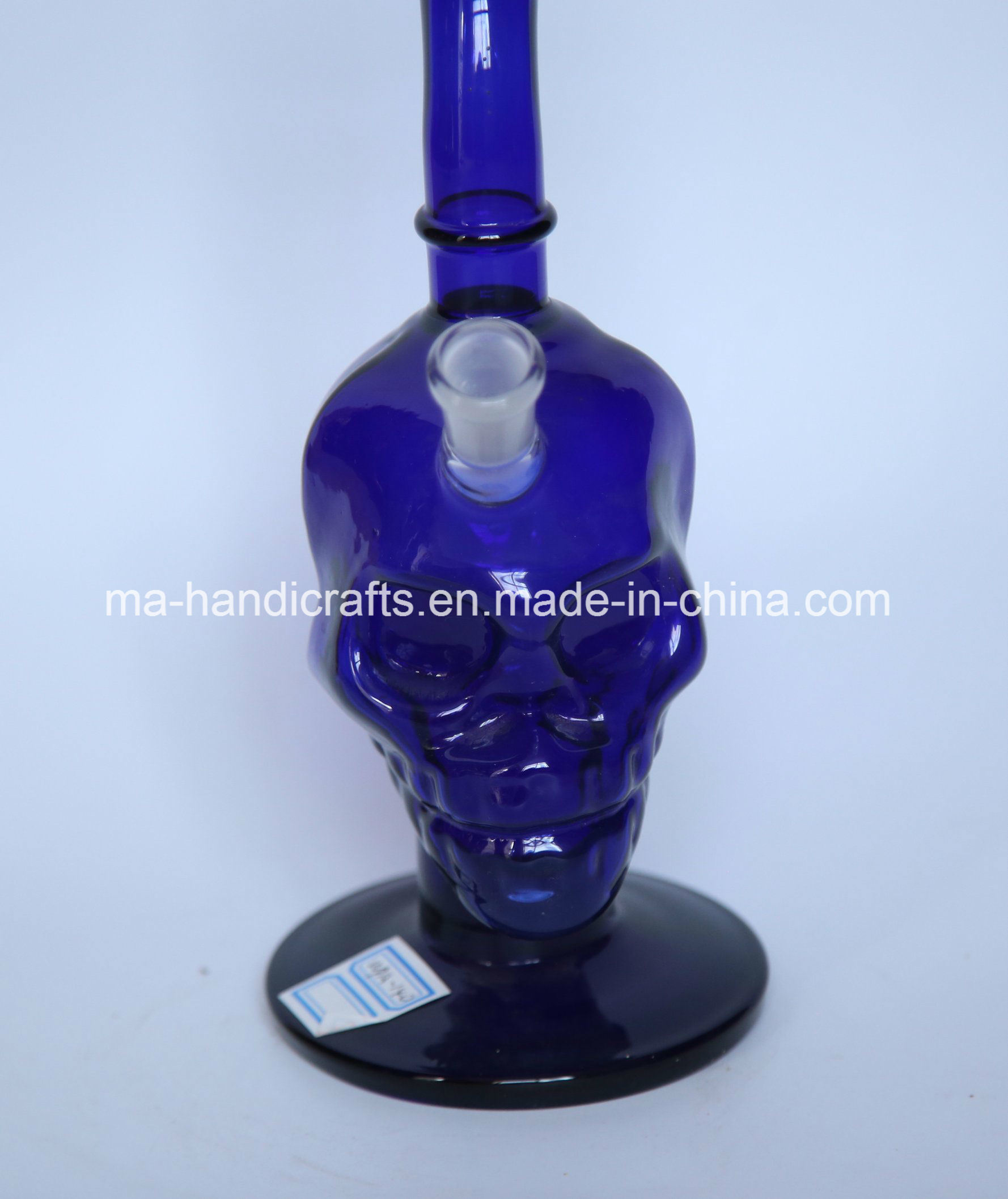 """12"""" Skull Boro Glass Water Pipes with Bent Neck"""