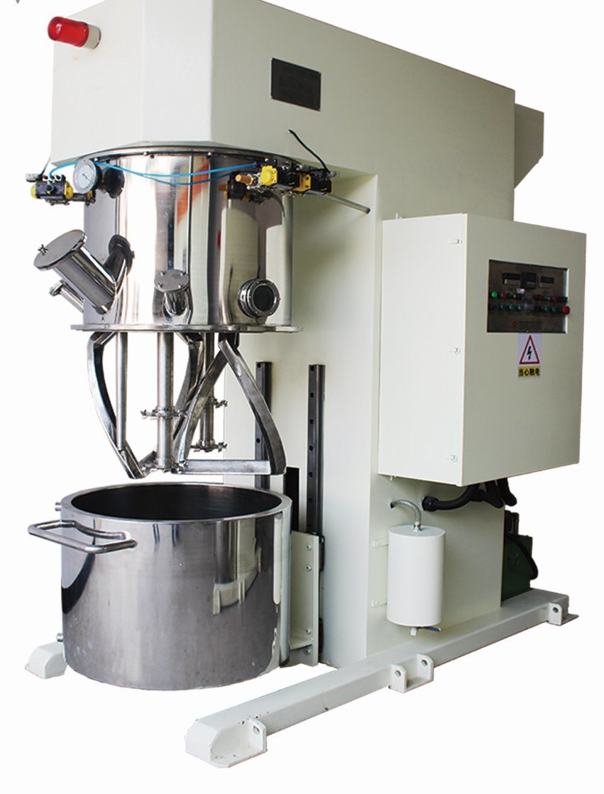 Single-Armed Dual Shafts Planetary Mixer with Dispersion