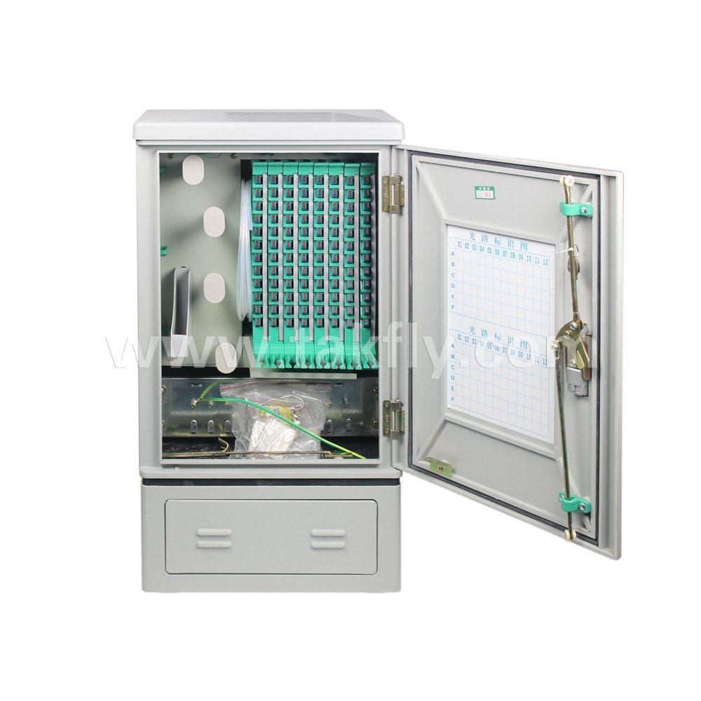96 Cores Floor Type Fiber Optic Cross Connect Cabinets Outdoor Distribution Cabinet