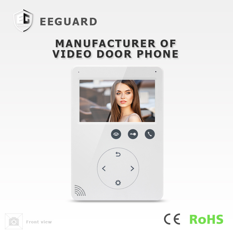 Intercom Home Security 4.3 Inches Doorbell Interphone Video Doorphone