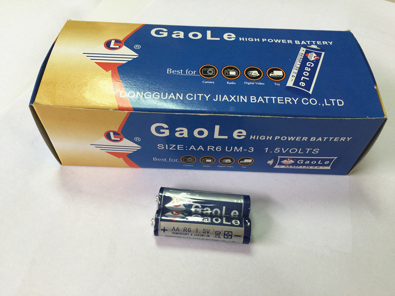 1.5V AA Carbon Zinc Battery (R6P) in Box Packing