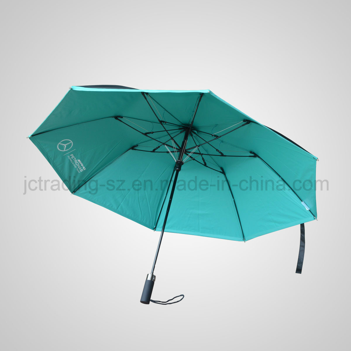 2 Section Automaic Folding Umbrella Rain & Sun Parasol (JF-ABZ201)
