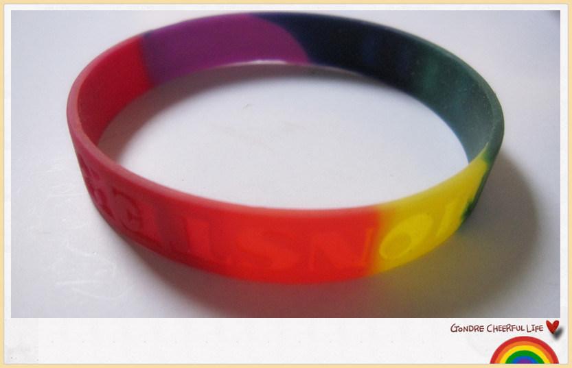 Custom Printing Simple Logo Silicone Wrist Band (YB-LY-WR-51)