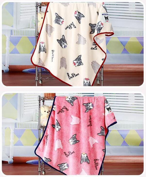 Embossed Cartoon Flannel Baby Blanket / Baby Throw