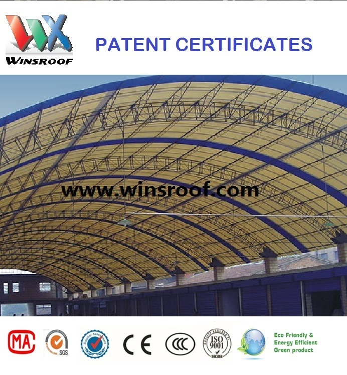 Wins UPVC Roof Tile-Wave Type High Stength