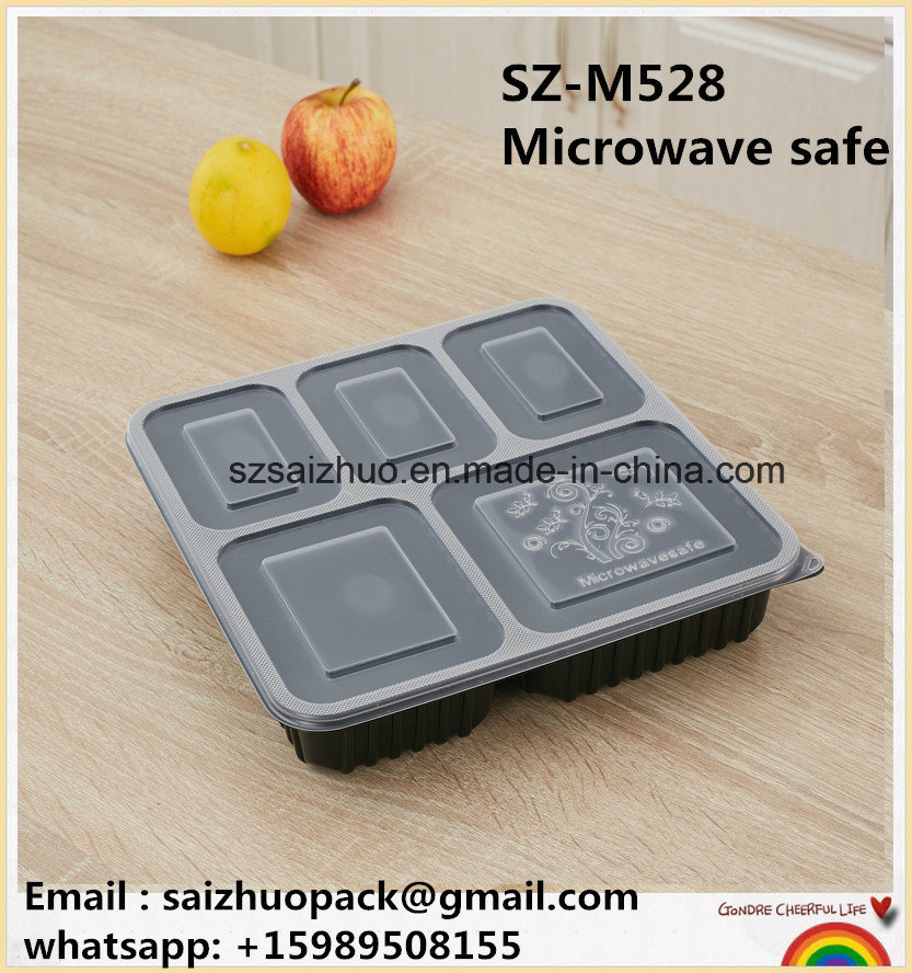 5 Compartment Disposable Plastic Lunch Box