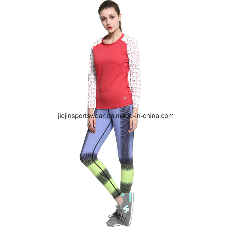 Spandex Lycra Women Compression Long Shirts and Pants for Sports