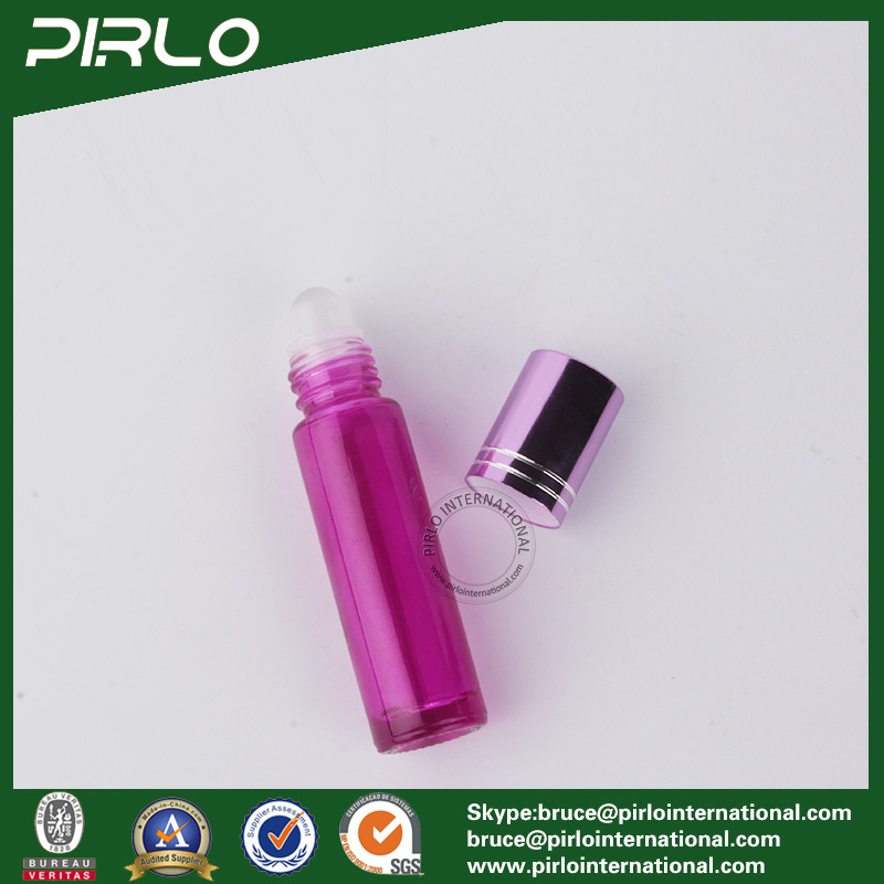 10ml Pink Color Glass Roll on Perfume Bottle