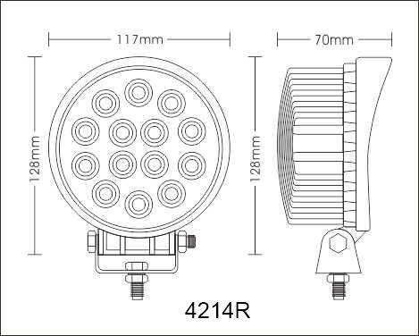 LED Working Lights Auto Accessories42W 614PCS * 3W Epistar Spot Flood Beam