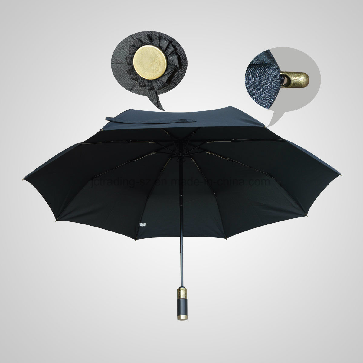 High Quality 3 Fold Automatic Open&Close Fashion Sun/Rain Umbrella (JF-AGV301)
