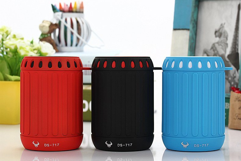 Best Tone Portable wireless Mini Bluetooth Speaker with FM Radio (DS-717)