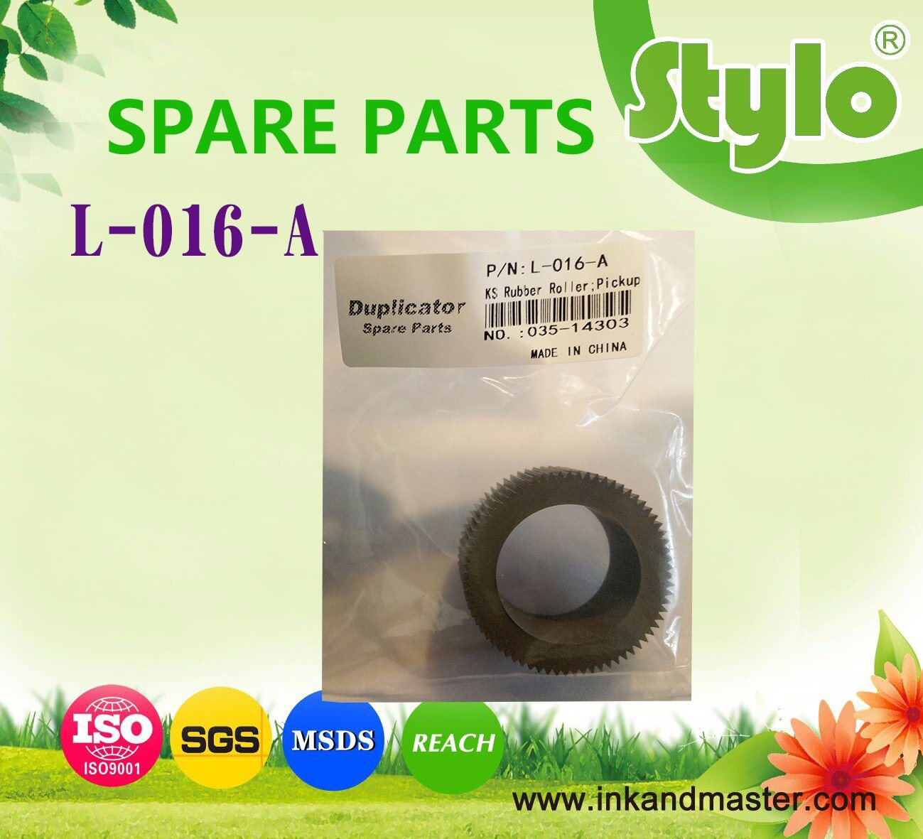 Pickup Roller for Use in Riso Hc5500 Hc5000 Spare Parts 035-14303-001 035-14303 Feed Tire