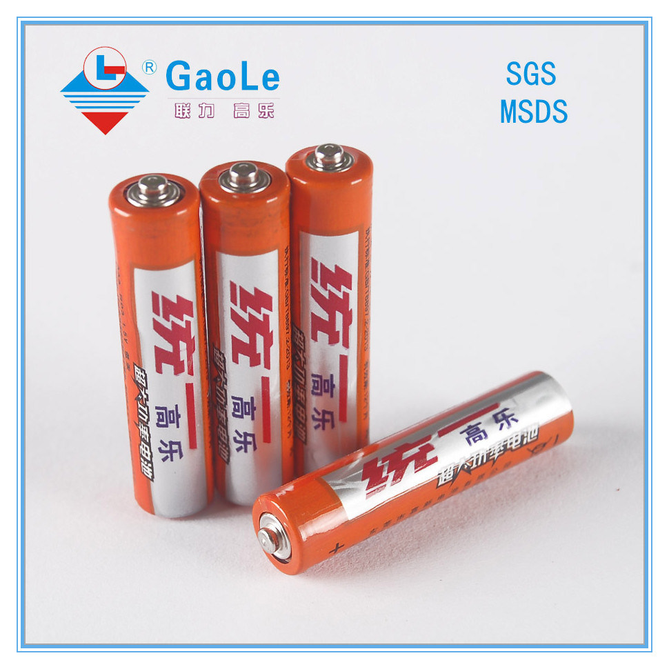 1.5V Super Heavy Duty Dry Battery (UM-4 R03 AAA)