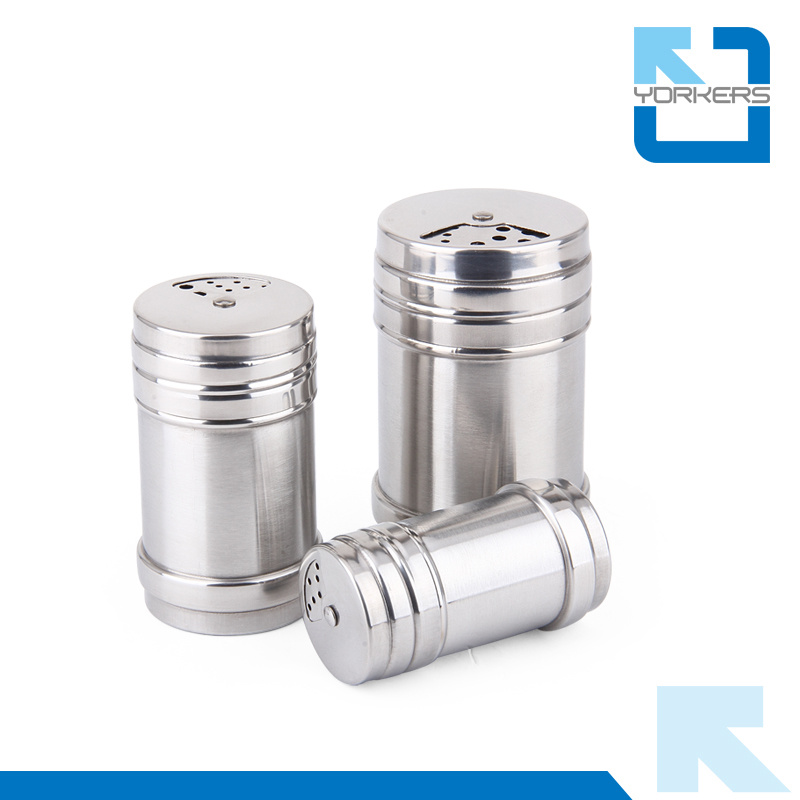 Colorful Stainless Steel Spice Jar and Salt & Pepper Shakers with Rotary Lid
