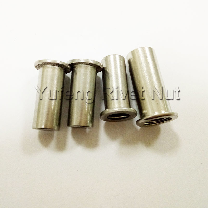 Stainless Steel Flat Head Rivet Nut with Closed End