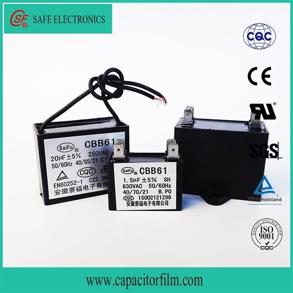 Cbb61 AC Motor Run and Start Fan Capacitor for Fan