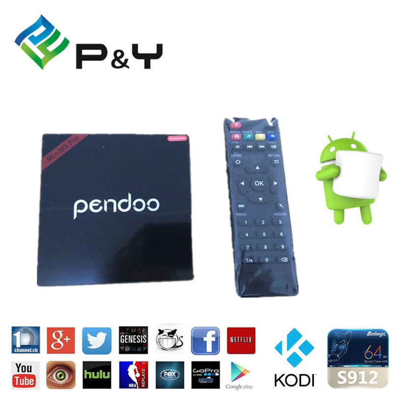 2016 Newest Android 6.0 Smart  TV  Box Pendoo Minix PRO Support 4k and H. 265