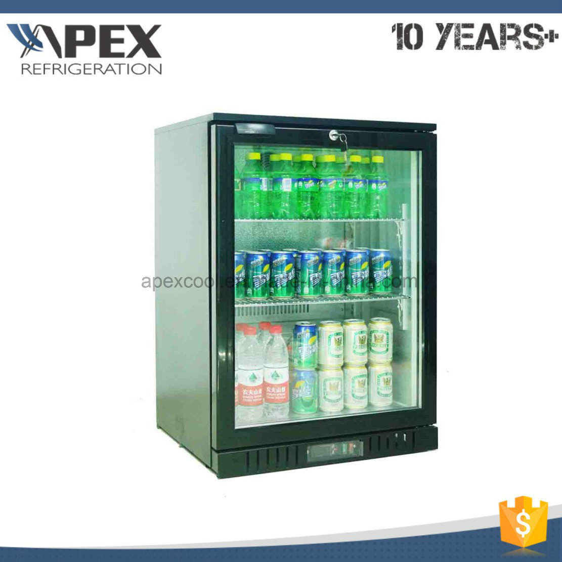 Single Glass Door Back Bar Cooler with Ce, CB, RoHS