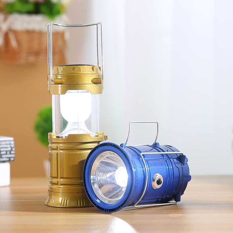 5W Portable Solar Power LED Rechargeable Tent Light Lantern Lamp
