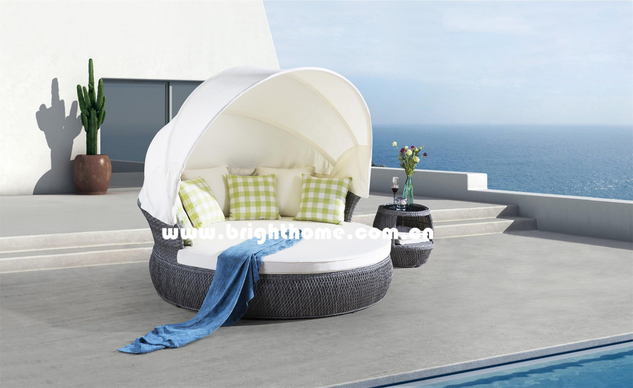 Outdoor Wicker Sun Lounger Outdoor Sofa Set