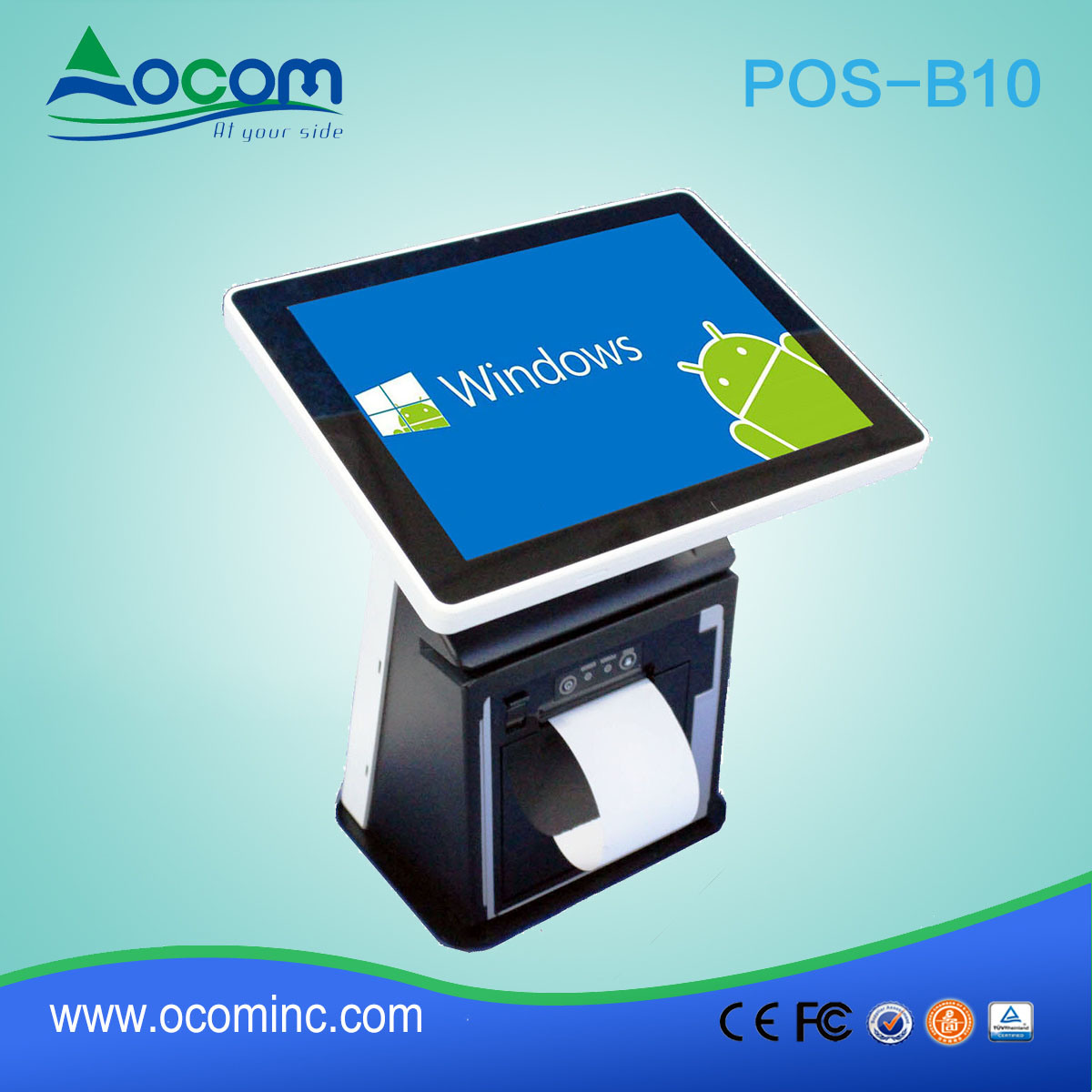 POS-B10 10.1 Inch POS Touch Screen All in One PC Computer