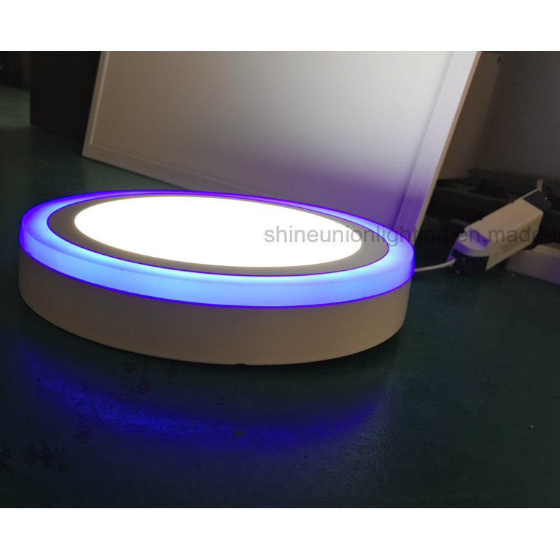 (3 steps) (18+6) W Two Color Round LED Panel Light for Surface