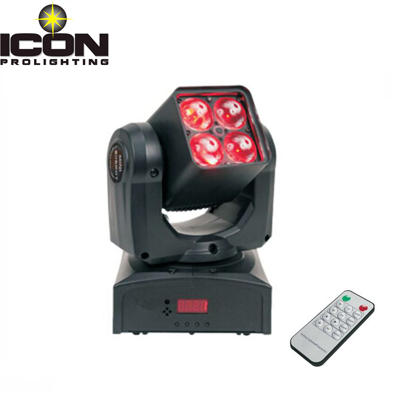 4X10W RGBW Small Zoom Moving Head Light for Disco Lighting (ICON-M066)