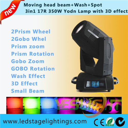 17r 350W Moving Head Beam Wash Spot 3in1 with Ce RoHS Certificat