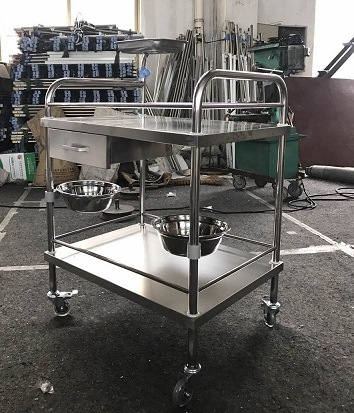 Thr-St040 Stainless Steel Medical Trolley