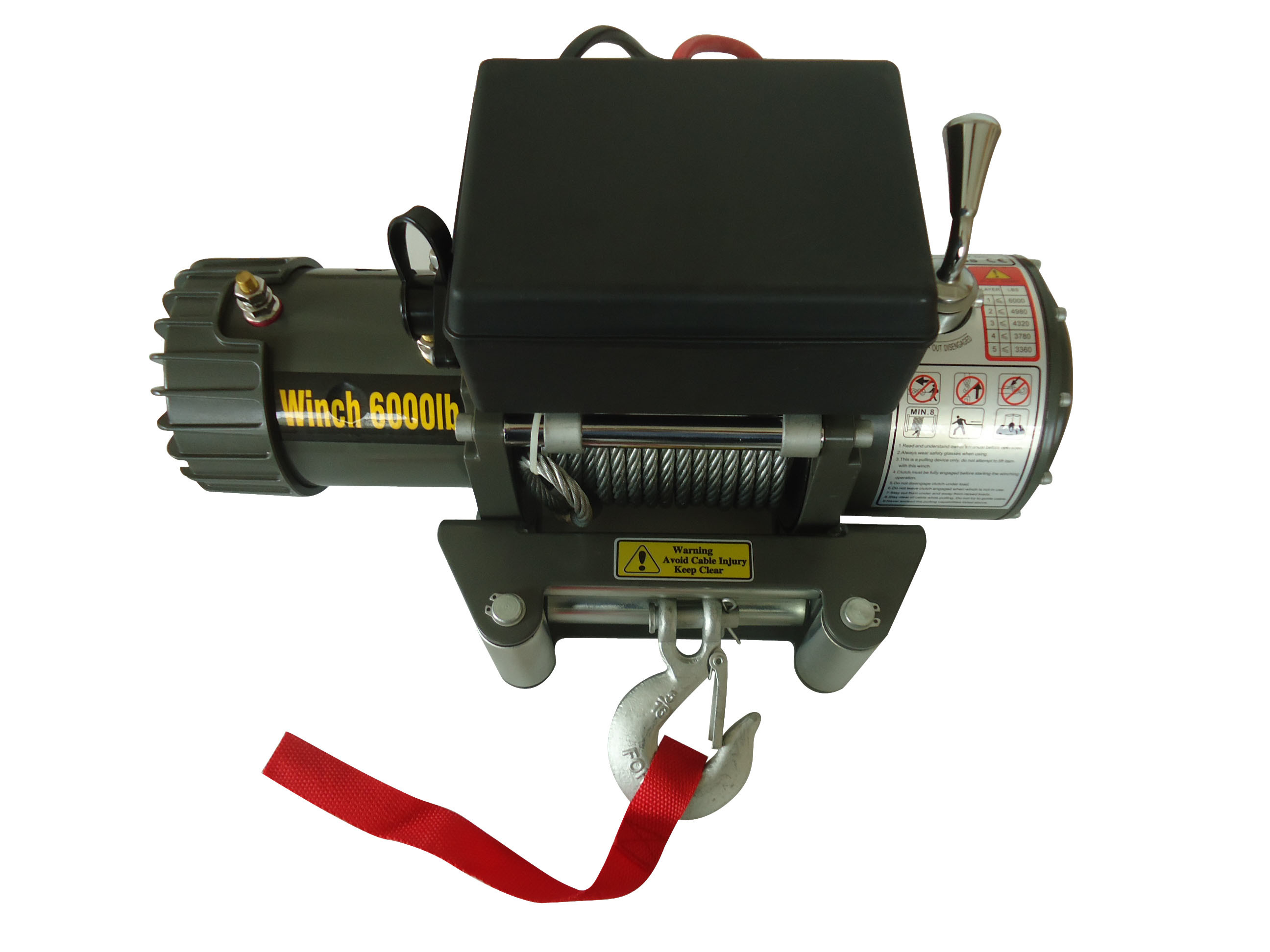 off Road Winch 6000lb, Chima Electric Winch 12V DC