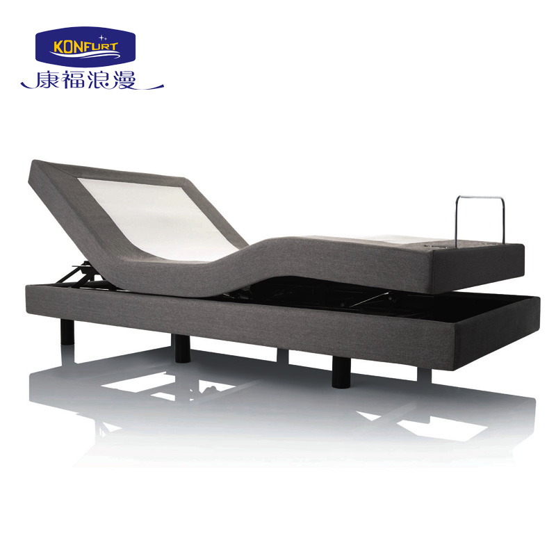 Massage Electric Bed Adjustable Bed with Bed Skirt Underbed Lighting