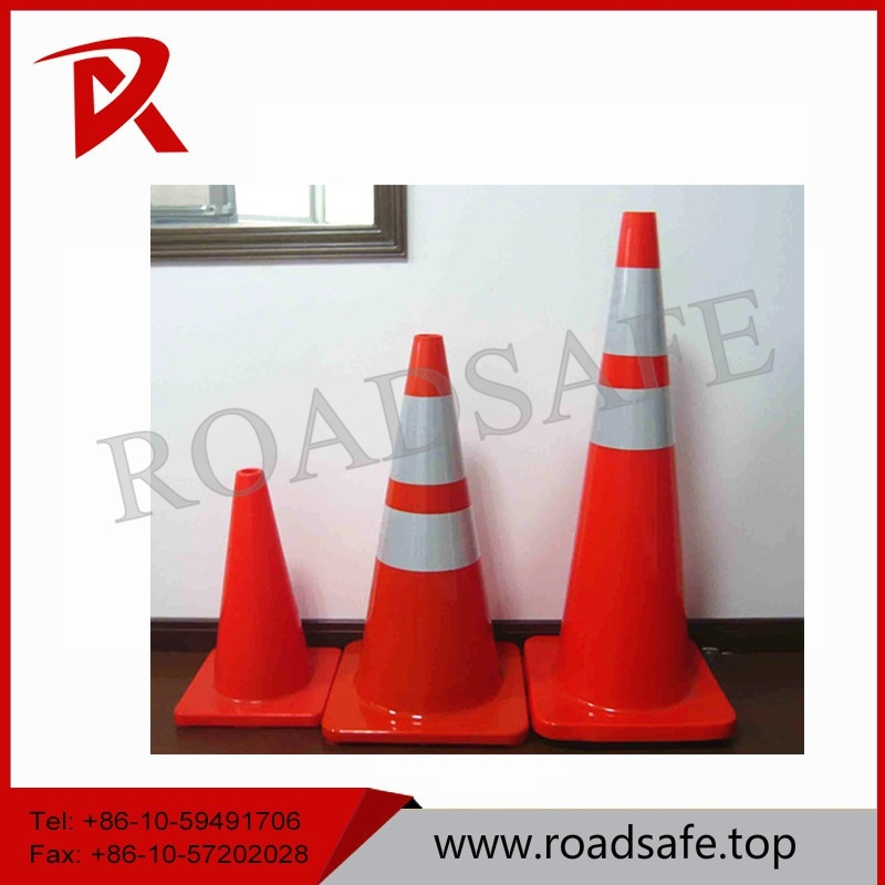 70cm Orange or Red Safety Traffic PVC Folded Cone