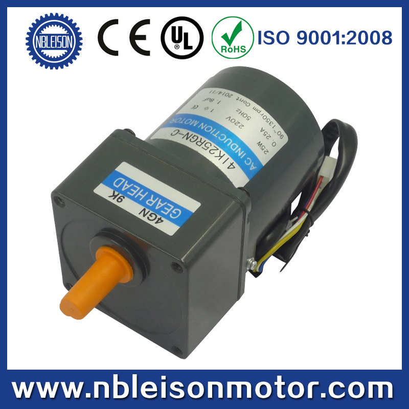 25W 110V 220V 100rpm 300rpm 500rpm Small AC Geared Motor