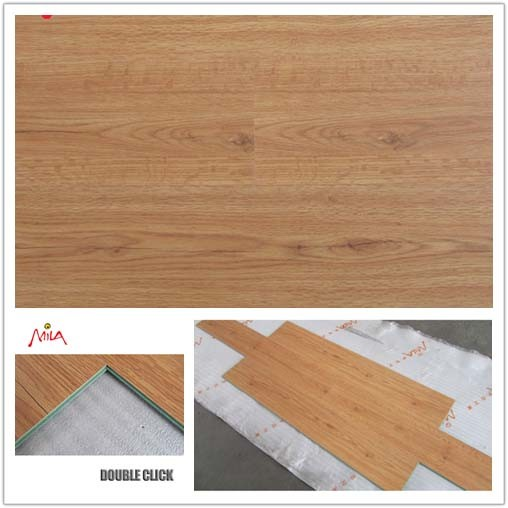 China 8mm oak wooden flooring waxed water proofing photos for High quality laminate flooring