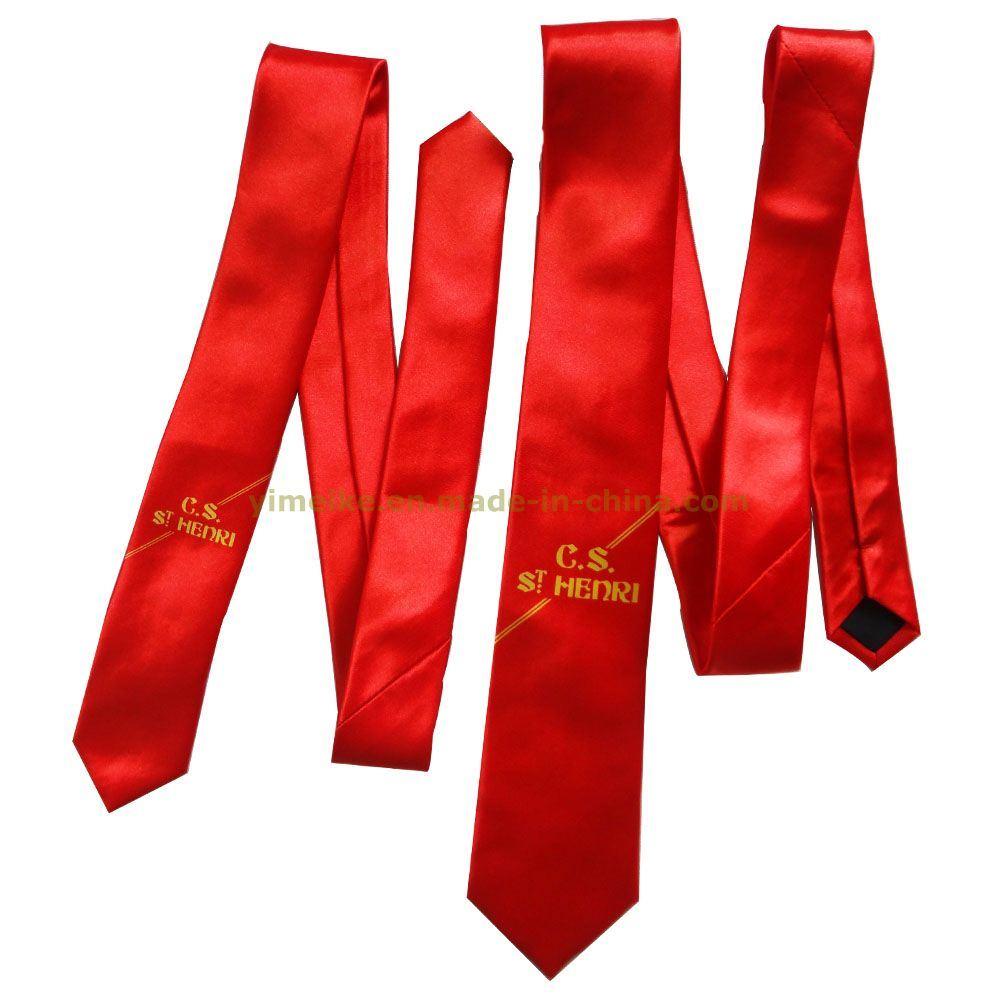 Customized Logo Printed Fashion Student Uniform Tie