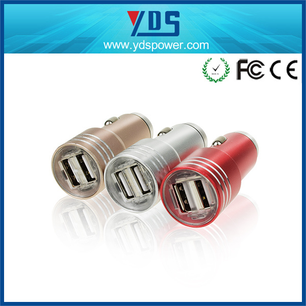 5V Metal USB Mobile Phone Wireless Car Charger 3.1A
