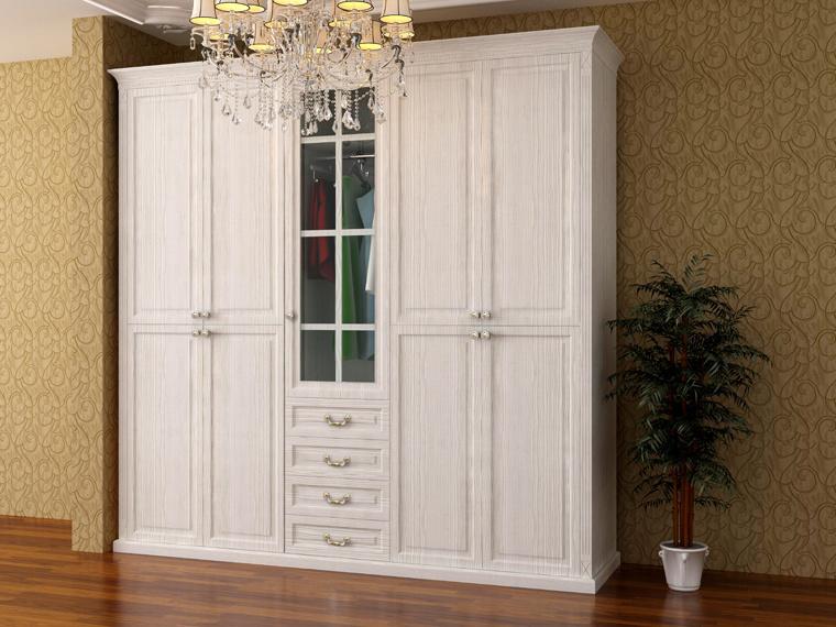 Wooden UV High Glossy Sliding Door Wardrobe (zy-021)